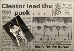 Evening News & Star cricket report by Keith Richardson